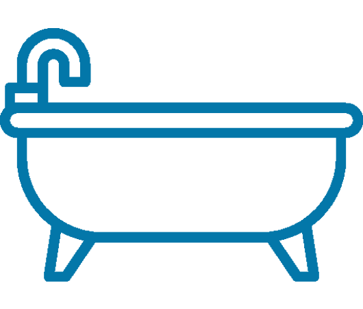 Badkar privatperson - Blå