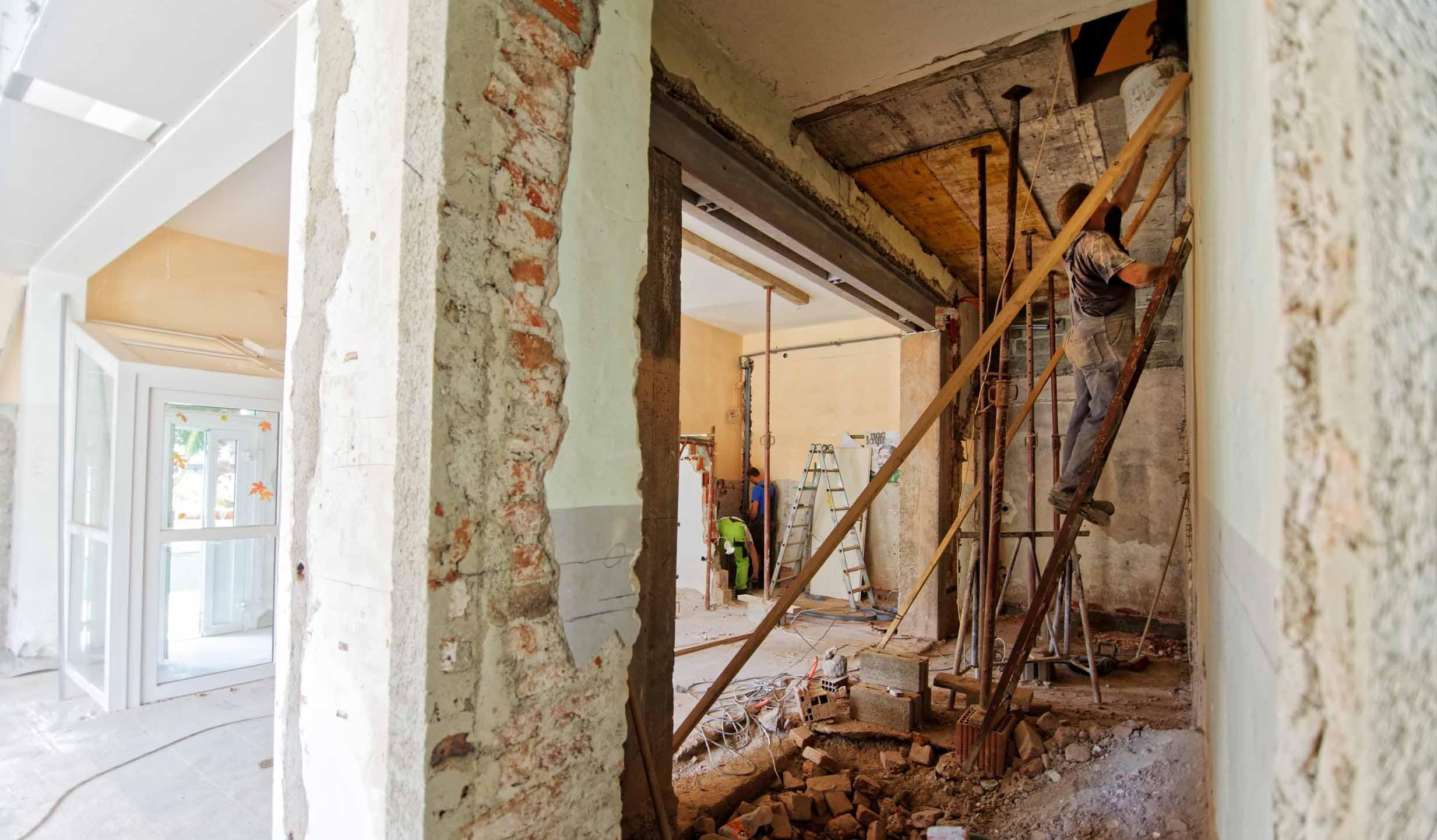 Renovering och rivning av rum